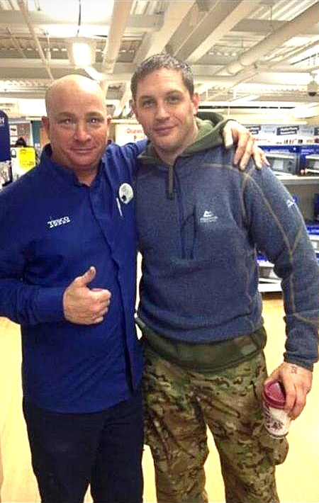 tomhardyvariations:    Kathryn Donnelly@katiiniDearest@katiini2sent me this pic of Tom Hardy in Stockton Tesco. It's brilliant UTB and all that  Thanks for sharing Tom in camouflage trousers (which obviously don't work). It's lovely seeing more of him.