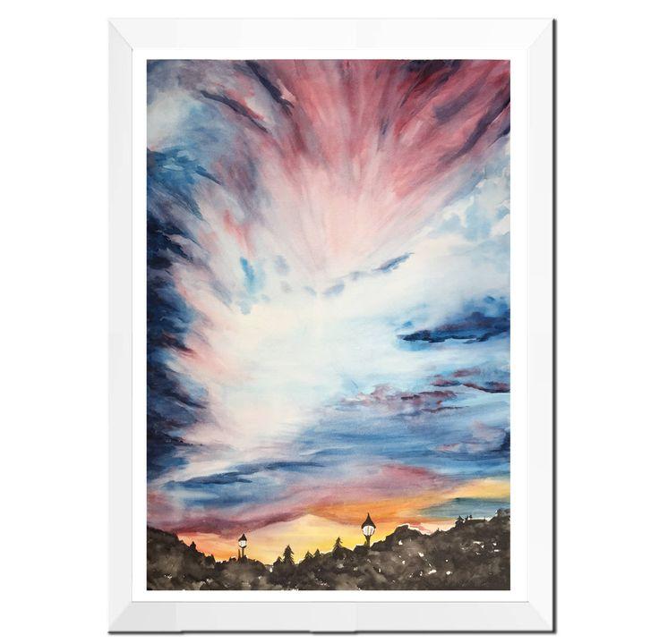 Top Oltre 25 fantastiche idee su Pittura di paesaggio ad acquerello su  QG71