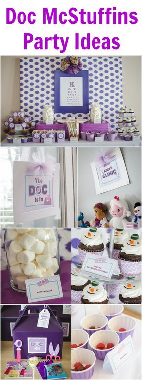 Doc McStuffins birthday party and food ideas