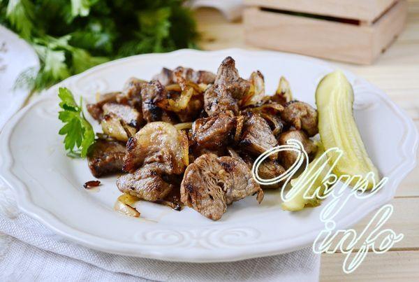 рецепт Как вкусно пожарить свинину на сковороде