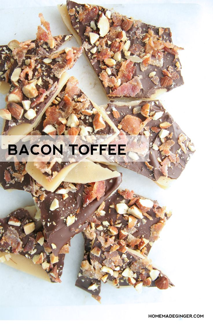 This bacon toffee recipe is simply amazing! Make some homemade toffee and top with salty bacon for the perfect sweet and salty combination!
