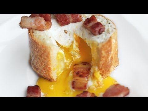Egg Bacon Baguette Breakfast - 3-Ingredient Recipe | Eugenie Kitchen