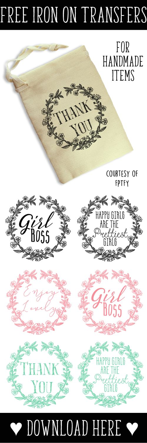Images- Iron on Transfers & Giveaway Winners! - Free Pretty Things For You