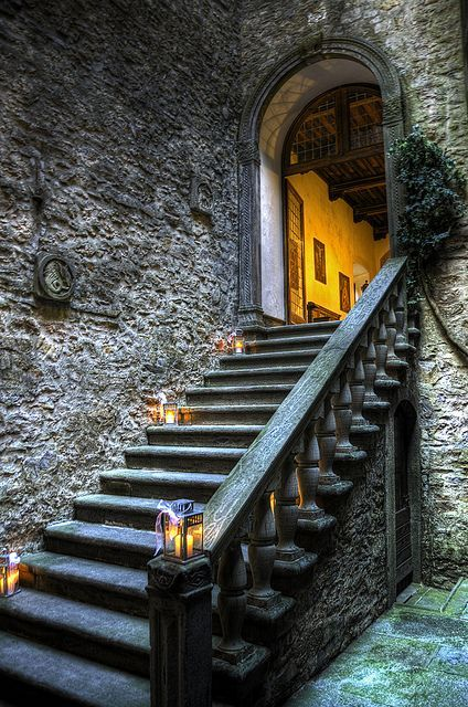 Tuscany, Italy. I would build something like this as an entrance to an interior courtyard or a back garden.