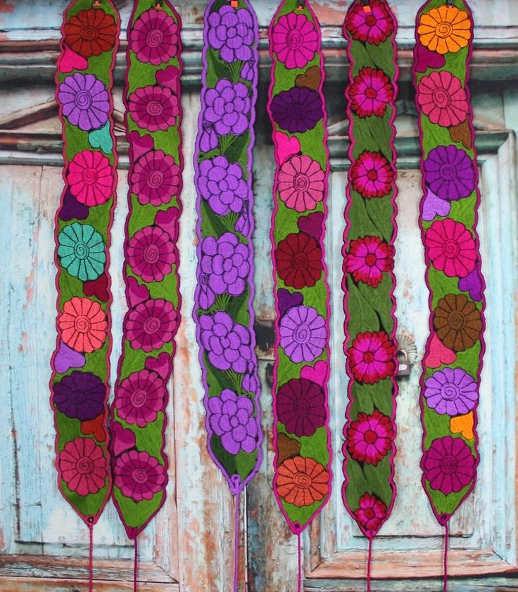 Floral Mexican Belts / Sash, Multiple colors, Wrap Around Hippie Boho Peasant #Handmade