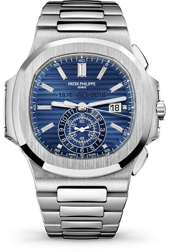 La Cote des Montres : La montre Patek Philippe Chronographe Nautilus référence 5976/1G - Édition limitée 40e anniversaire - Du platine pour un bel anniversaire