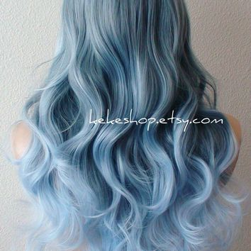 Shop Pastel Blue Hair Color on Wanelo