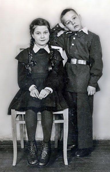Russian school uniform, 1949. #education