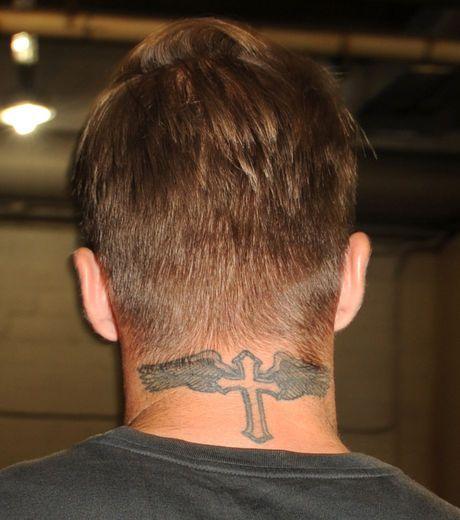 david beckham neck tattoo stencil - Google Search