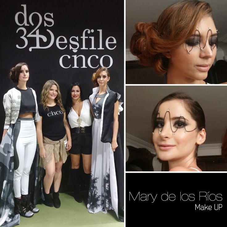 Un fabuloso resultado con las modelos de Desfile Cinco de la Colegiatura Colombiana.  #SmookyEyes