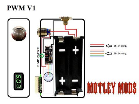 BOX MOD WIRING DIAGRAMS Motley Mods llc Sigara