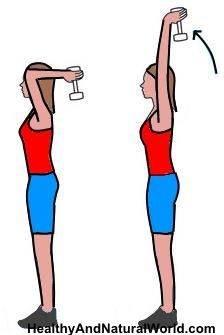 exercice bras fin femme