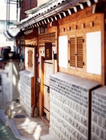 Korean traditional house 'Han-Ok'  (Outside view)
