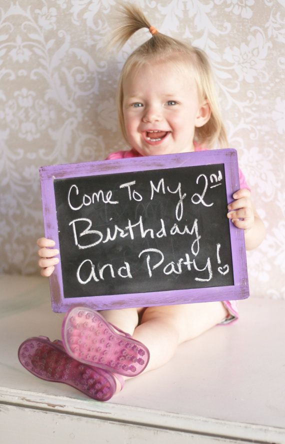 Chalkboard Photo Prop Kids Birthday Party Unique by braggingbags, $13.50