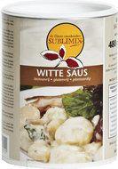 Witte saus 240/ 480 gram Met deze Witte Saus maakt u in een handomdraai een heerlijke bechamelsaus. Lekker bij bloemkool, broccoli en schorseneer. Onze Witte Saus is de perfecte basis voor een pikante kerriesaus of een heerlijke kaassaus. Voeg gewoon naar smaak kerriepoeder toe of laat wat gemalen kaas in de saus smelten.  Glutenvrij              Lactosevrij            Caloriearm Cholesterolvrij      Vegetarisch           Zonder smaakversterkers  www.kokenmetsublimix.nl