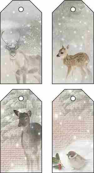 free download Xmas deer tags