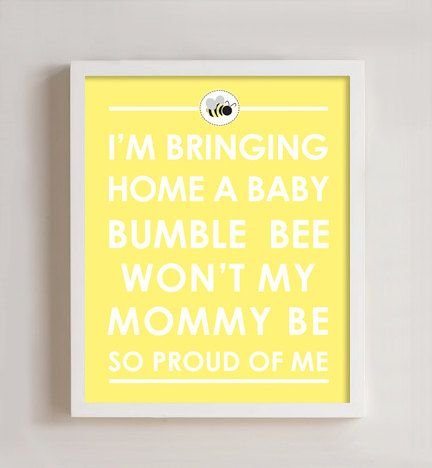 8 x 10 Bumble Bee Nursery print by polkaprints on Etsy, $18.00