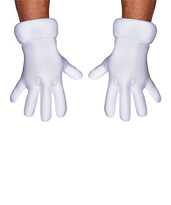 Super Mario Bros. Costume Gloves - Adult