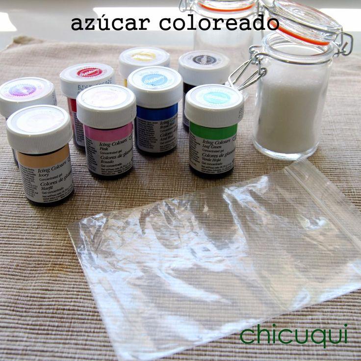Cómo hacer azúcar coloreado, casero. Trucos y consejos en chicuqui.com