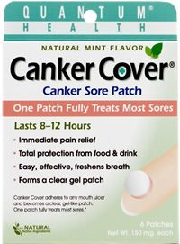 Canker Cover, the breakthrough 8 hour treatment for mouth ulcers.