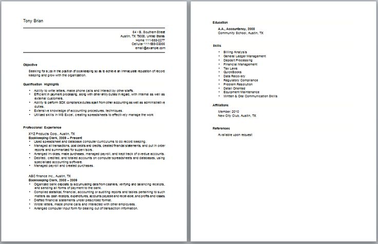 17 Best Accounting Resume Samples Images On Pinterest