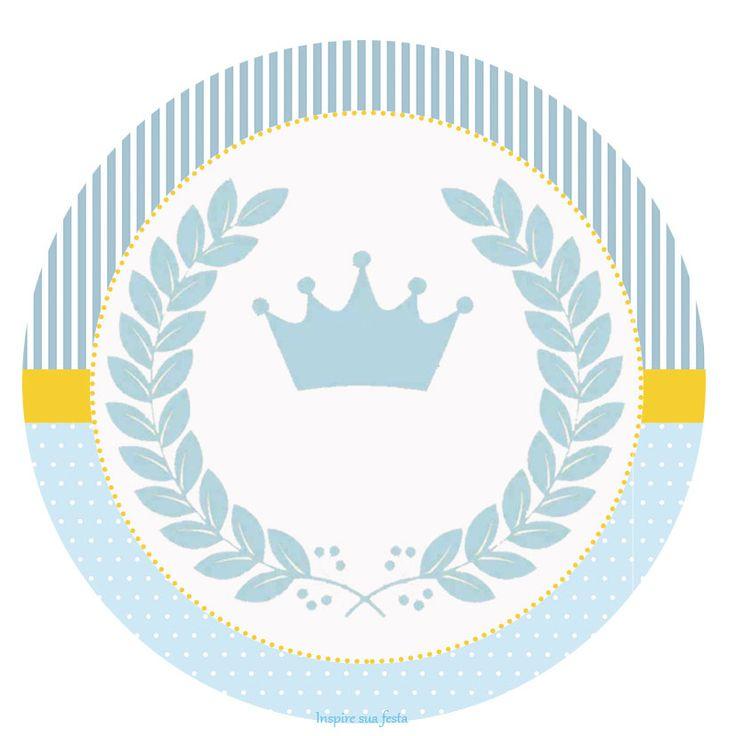 Príncipe Coroa Azul – Kit festa grátis para imprimir – Inspire sua Festa ®