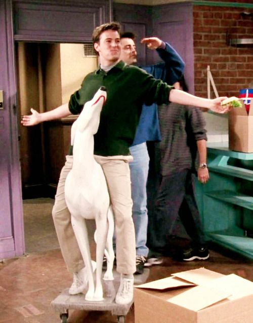 "One of my favorite episodes ... The one with the embryos. . . Monica and Rachel lost the apartment in a bet with Joey and Chandler on who knows who better.  ""He's a Transponder!"""
