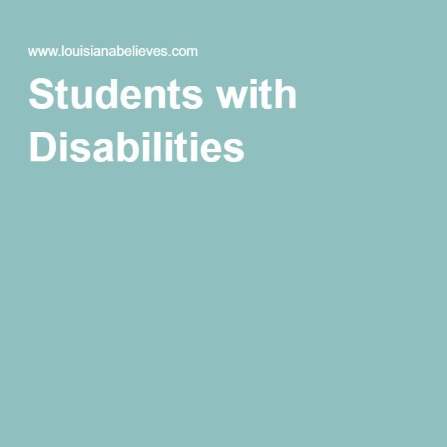 Louisiana Department of Education: Students with Disabilities