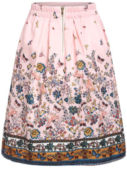 Shop Florals Elastic Waist A-Line Skirt online. SheIn offers Florals Elastic Waist A-Line Skirt & more to fit your fashionable needs.
