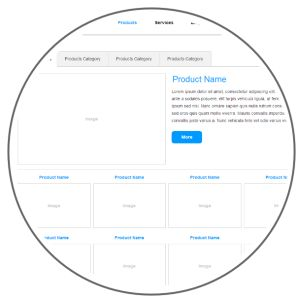 Axure PR Company prototype template with free widget library