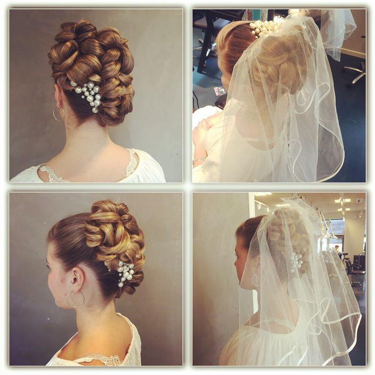 Model - brudeopsætning med og uden slør