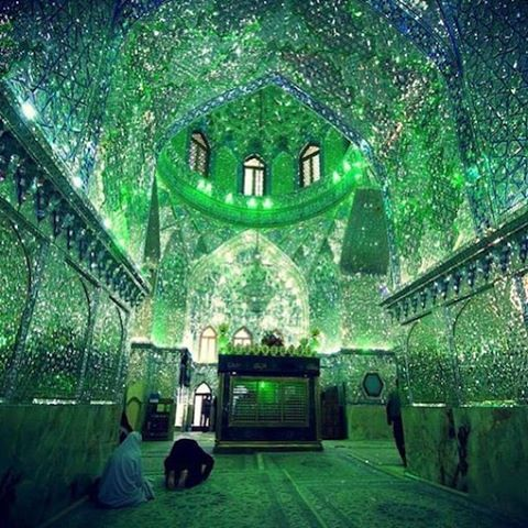 Step inside of the Shah Cheragh mosque in Shiraz, Iran and you'll find a dazzling space filled with glass tiles that bounce light in every direction.