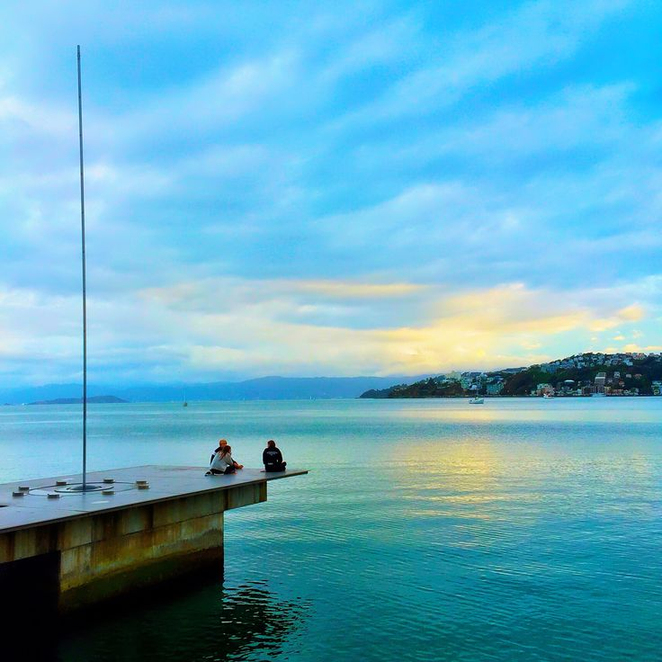 End of the day, Wellington waterfront.
