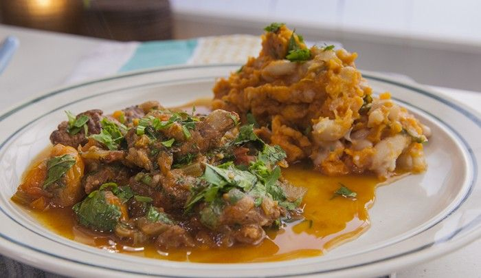 Braised Beef with Cannellini Bean and Sweet Potato Mash | Good Chef Bad Chef