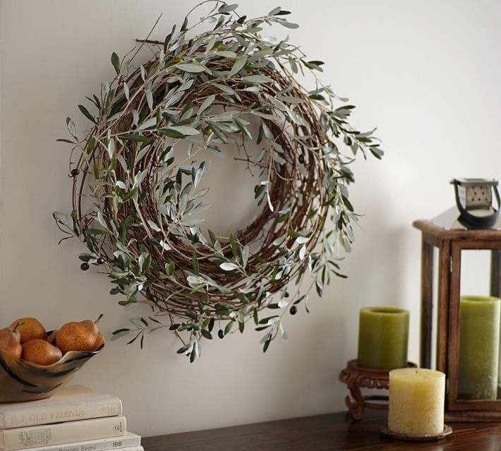 Harvest Olive Wreath- holiday decor- pottery barn