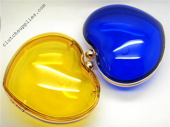 6 inch / 15cm transparent heart style clutch diy by ClutchSupplies