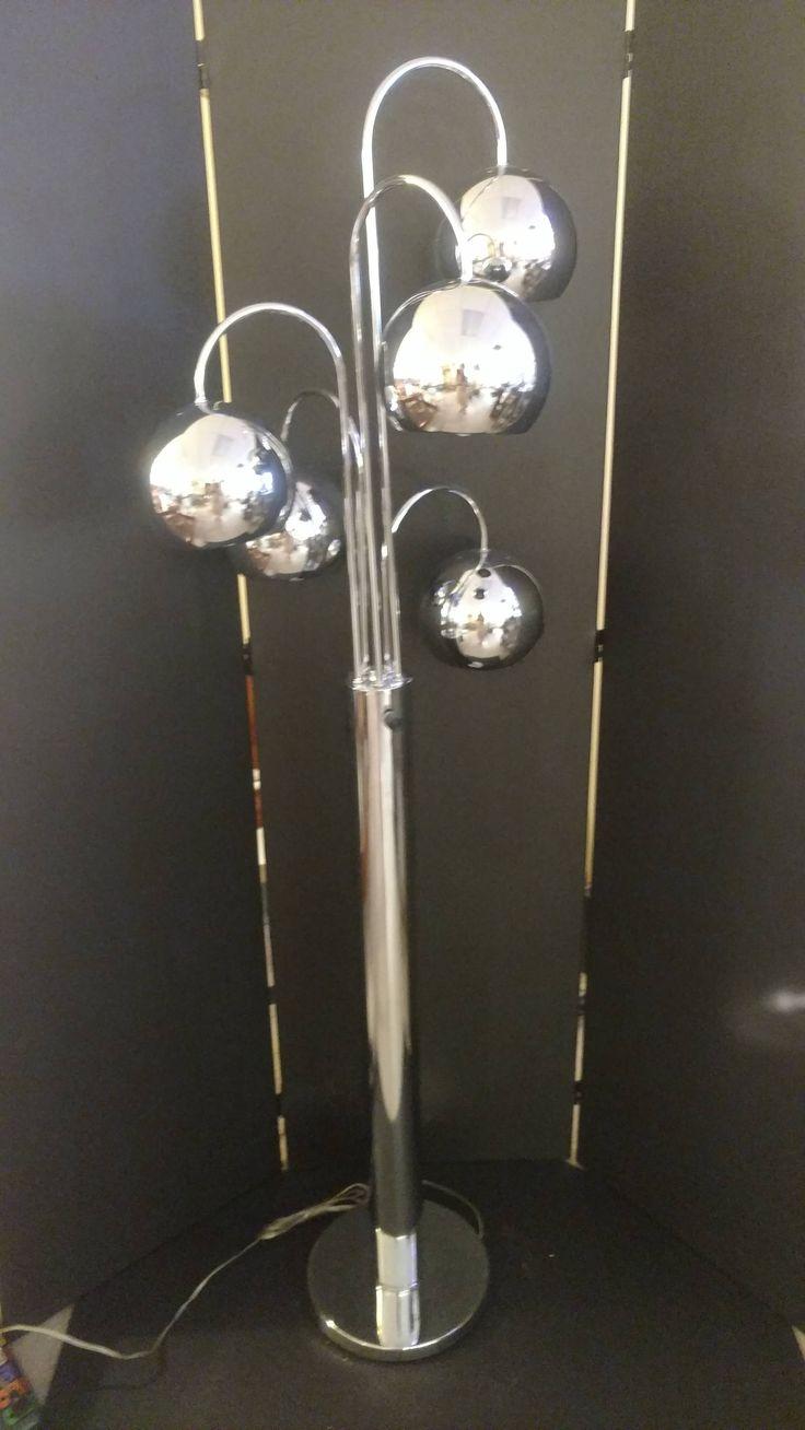 Robert Sonneman Mid-Century Chrome 5 Orb Waterfall Floor Lamp by RussellsRetro on Etsy