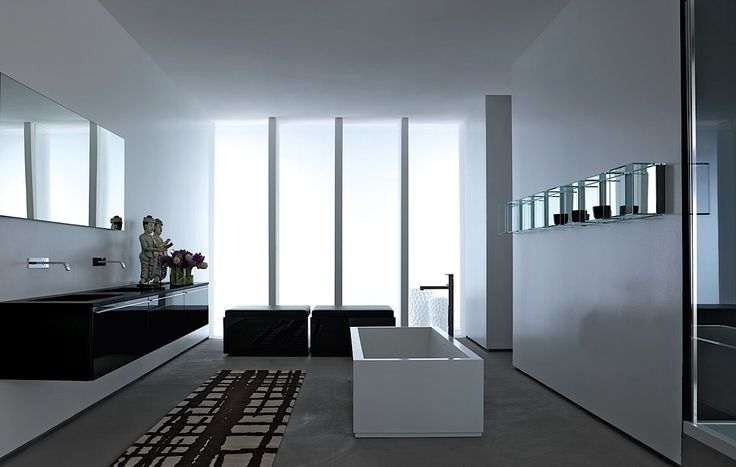 Elegant And Clean Contemporary Bathroom, Fonte By Italian Brand Rifra_