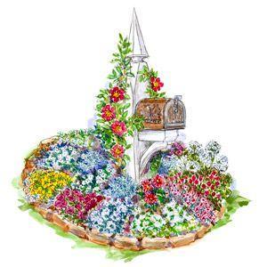 Colorful Mailbox Garden Plan