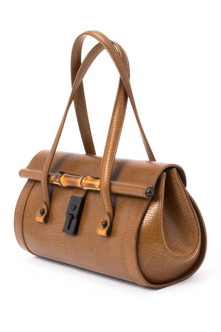 Leather Bamboo Shoulder Bag