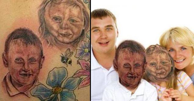 12 Horrible Tattoos Photoshopped Over The Real-Life Version