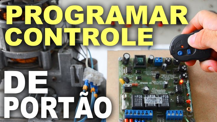 Como codificar controle remoto de portão automático - Passo a passo