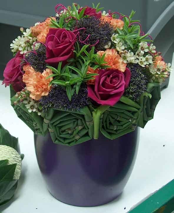 florist, South Woodford, East London, contemporary floral arrangement