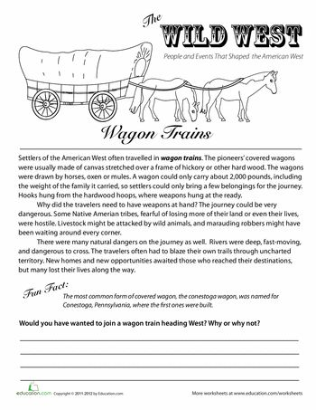 worksheets the wild west wagon trains reading pinterest wild west worksheets and social. Black Bedroom Furniture Sets. Home Design Ideas