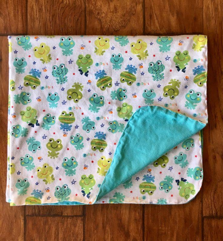 Little Froggy Swaddle Blanket-Double Sided Flannel Receiving Blanket-Flannel Baby Blanket- Frog Blanket-Handmade-Baby Blanket/Little Frogs by OccasionalGoods on Etsy