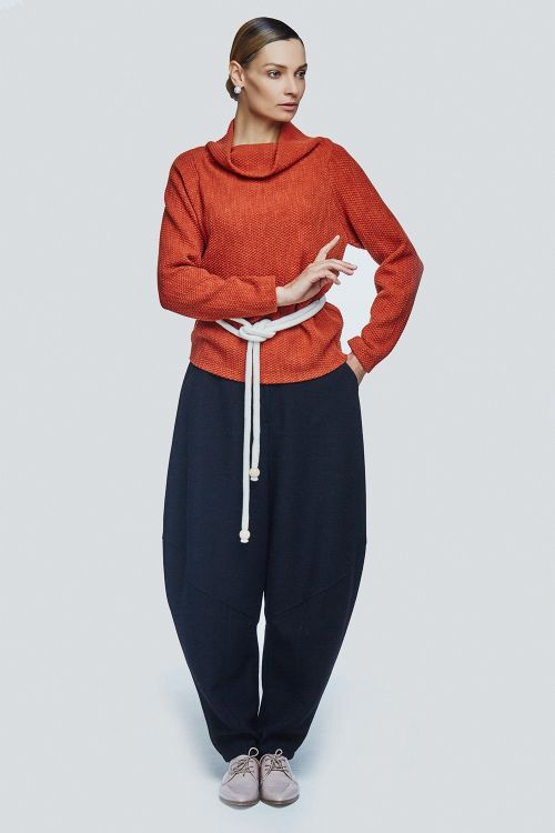 Lesel - Блуза хомут реглан плетёнка