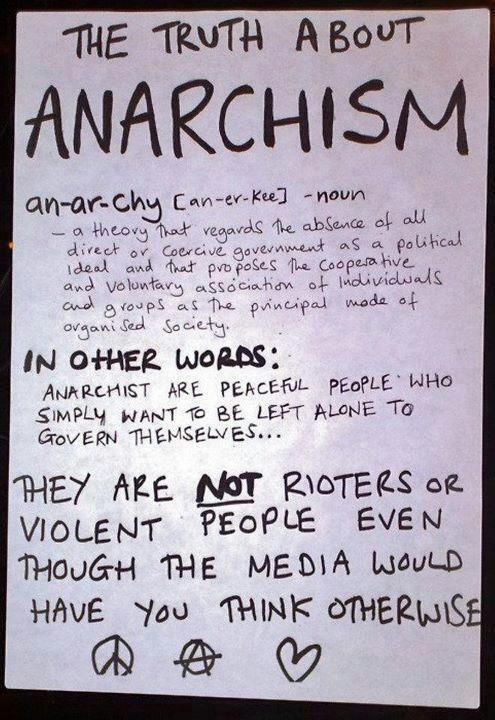 anarchist philosophy, anarchy...peaceful anarchism