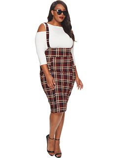 c703a954b2 Unique Vintage Plus Size Sabrina Suspender Skirt - Plus Size Fashion - Ad