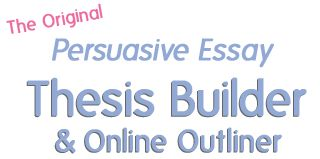 An easy way for junior high students to create a thesis for their persuasive essays! Hallelujah!