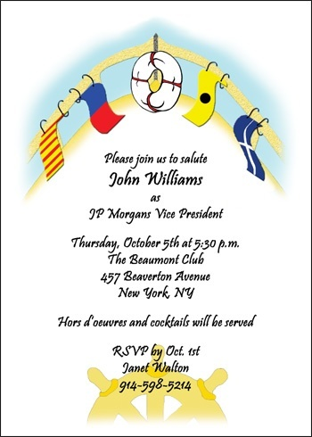 Anchors Away Business Party Invites at CardsShoppe